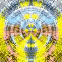 yellow blue and pink circle plaid pattern abstract background von timla