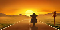 Biker on Tour von Monika Juengling