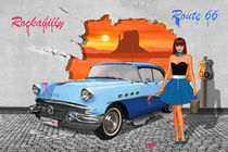 Street Art Rockabilly Route 66 von Monika Juengling