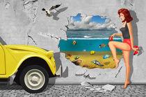 Baden gehen mit Entchen von Monika Juengling