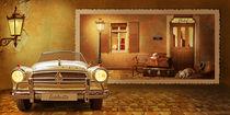 Borgward Isabella Cabrio  vor nostalgischer Kulisse von Monika Juengling