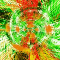 green red and orange circle plaid pattern abstract background von timla