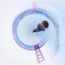 Golden Gate bridge, San Francisco, USA in small planet von timla