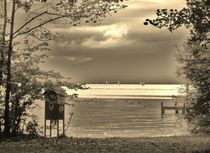 End of Autumn at Lake Starnberg von Juergen Seidt