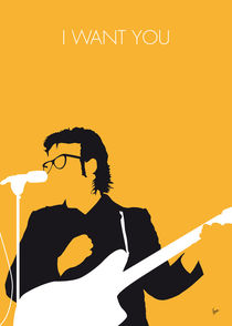 No067 MY ELVIS COSTELLO Minimal Music poster von chungkong