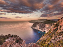 The sunset at Keri in Zakynthos, Greece by Constantinos Iliopoulos