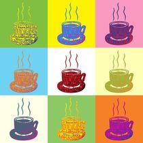 Kaffee Tasse Popart by Gabi Siebenhühner