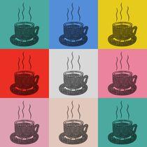 Kaffee Tasse Popart von Gabi Siebenhühner