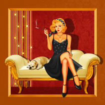 Pin Up Girl Glamour von Monika Juengling