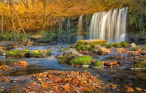 Sgwd Ddwli Uchaf waterfalls South Wales by Leighton Collins