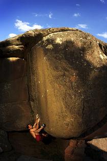 Bouldering in Albarracin von Manuel Bruque