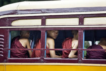 Monks in a bus by Manuel Bruque