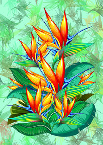 Bird of Paradise Flower Exotic Nature by bluedarkart-lem