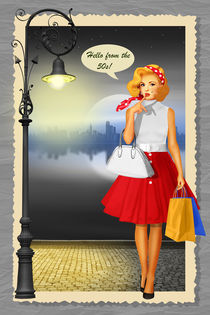 Hello from the 50s Shopping Girl by Monika Juengling
