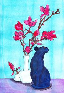 Magnolie mit Katze von michaba