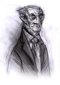 Skizze alter Mann von Patrick Bandau