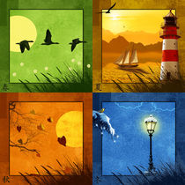 Alle 4 Jahreszeiten auf einem Blick  by Monika Juengling