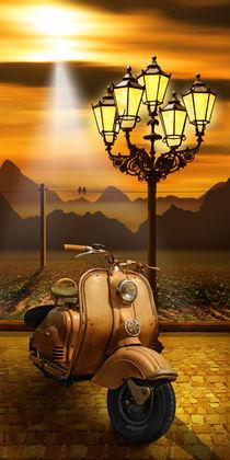 Nostalgie Vespa Roller romantisch von Monika Juengling