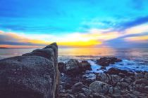 ocean sunset view with beautiful blue cloudy sky von timla