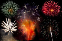 Bonfire night firework explosion von Leighton Collins