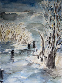Winter at the lake - Winter am See  by Chris Berger