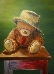 Teddy with hat by Sophie Kolb