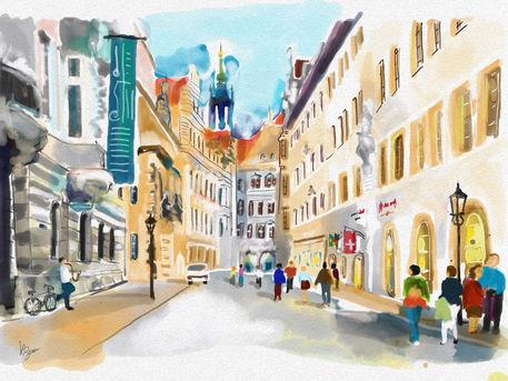 Dresden-schlossstrasse-mit-georgentor