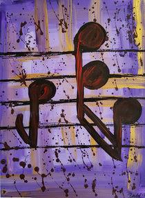 Noten Violett III by art-gallery-bendorf