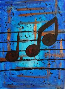 Noten Blau I by art-gallery-bendorf