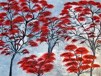 Rote Bäume von Monika Beirer