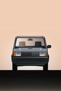 Modern Euro Icons Series FlAT Panda (Tipo 141) by monkeycrisisonmars