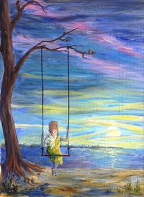 Fairy on a swing by Sophie Kolb
