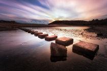 Three Cliffs Bay stepping stones von Leighton Collins