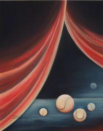 Tennisbild - Tenniszirkus - Kunst - Sport von Edeltraut K.  Schlichting