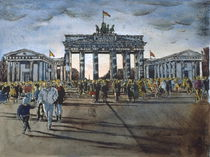 Brandenburger Tor , am Tag der Öffnung by Heinz Sterzenbach