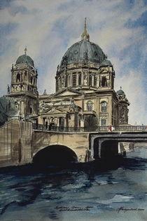 Berliner Dom mit Liebknechtbrücke by Heinz Sterzenbach