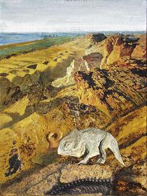 Wüstengebirge mit Urtier by Heinz Sterzenbach