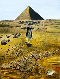 Reiter vor Pyramide by Heinz Sterzenbach