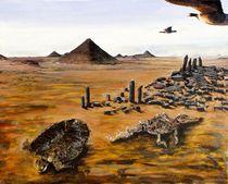 Wüste mit Tierskeletten von Heinz Sterzenbach