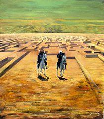 Zwei Reiter in der Wüste by Heinz Sterzenbach