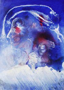 VU 137 Kopf in Blau by Heinz Sterzenbach
