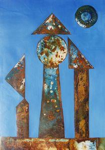 VU 164 Eisenplastik mit drei Figuren von Heinz Sterzenbach