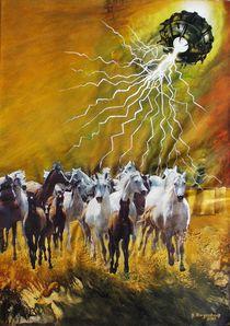 VU 17 Galoppierende Pferdeherde 1 von Heinz Sterzenbach