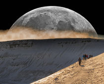 Supermoon over Brecon Beacons von Leighton Collins