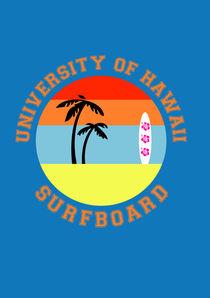 University of Hawaii Surfboard von lescapricesdefilles