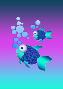 Blue fishes by lescapricesdefilles