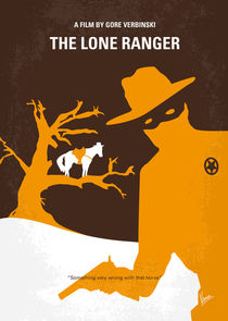 No202 My The Lone Ranger minimal movie poster by chungkong