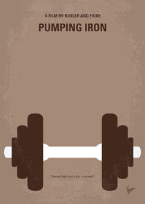 No707 My Pumping Iron minimal movie poster von chungkong
