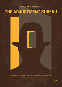 No710 My The Adjustment Bureau minimal movie poster von chungkong