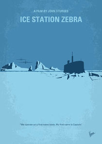 No711 My Ice Station Zebra minimal movie poster von chungkong
